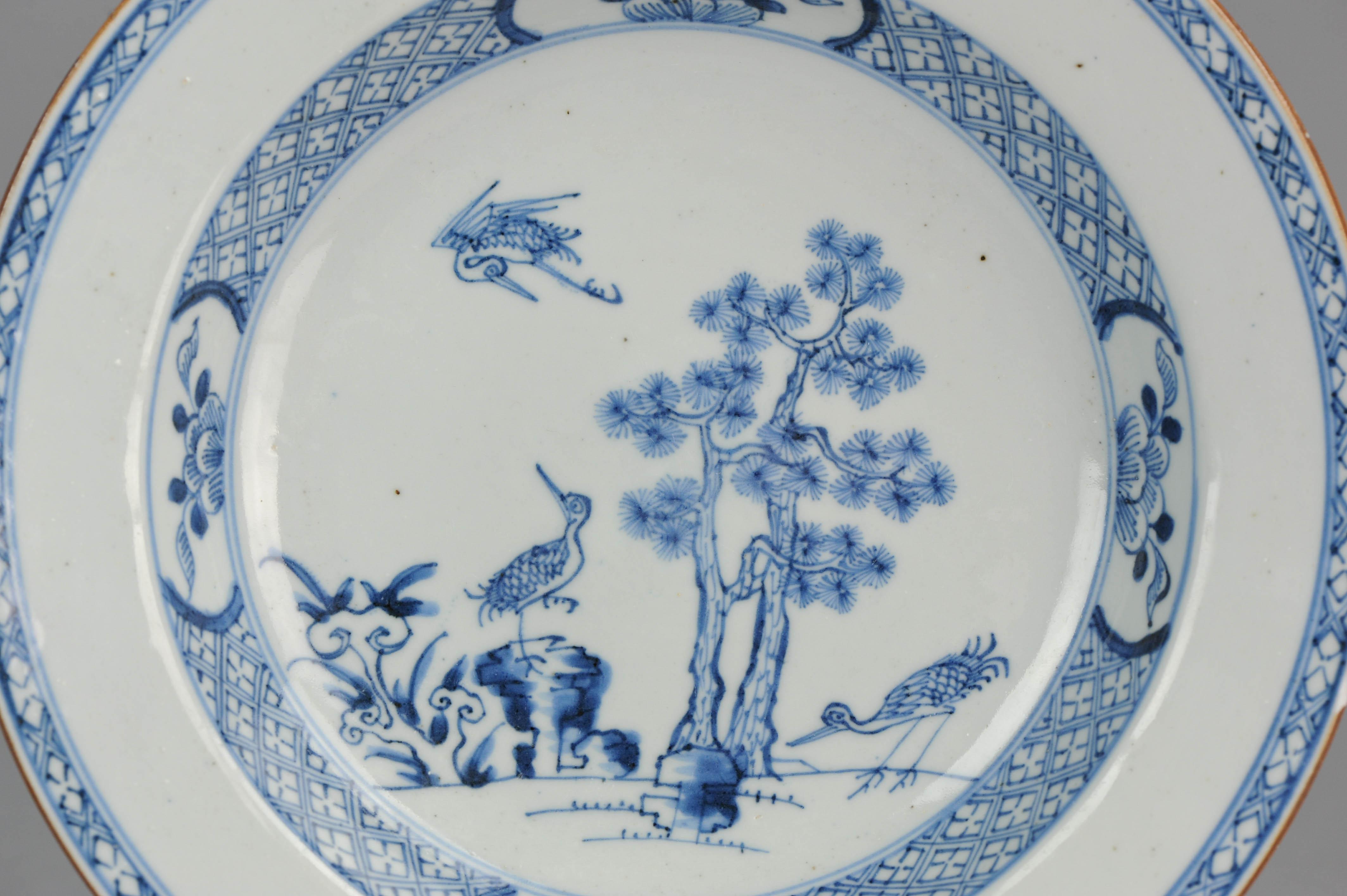 Antique 18th C Crane Plate Yongzheng Chinese Porcelain & Ebay Antique Plates - Castrophotos