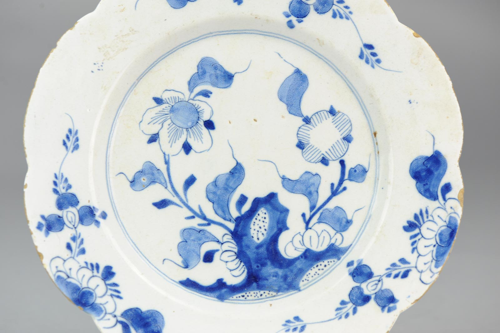 Blue Pottery With White Decoration Dutch