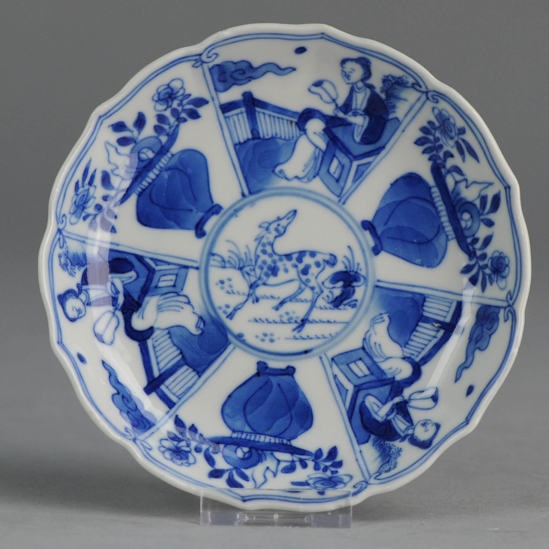 Antique 19c chinese porcelain tea bowl revival kangxi blue white antique 19c chinese porcelain tea bowl revival kangxi blue white china antique floridaeventfo Images