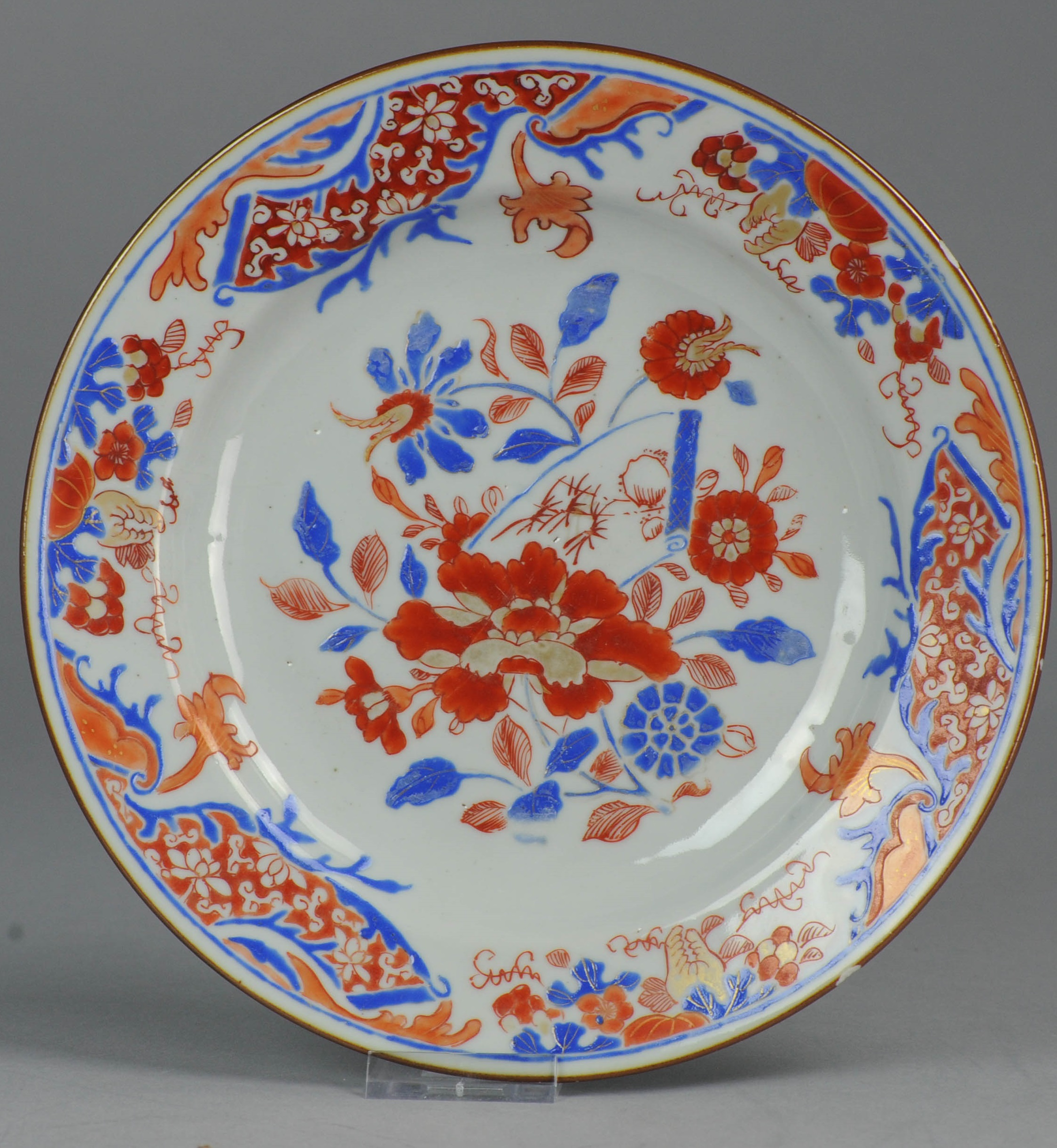 Antique 18th Chinese Porcelain Dinner Plate Scroll Red \u0026 Blue China Chinese  sc 1 st  eBay & Antique 18th Chinese Porcelain Dinner Plate Scroll Red \u0026 Blue China ...