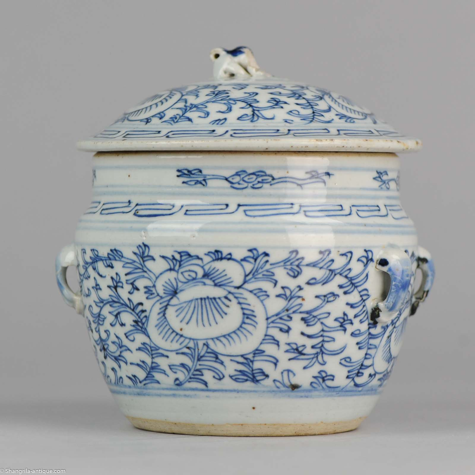 Number 1 Chinese Kitchen: 19C Chinese Porcelain Kitchen Ch'ing Qing Lidded Jar