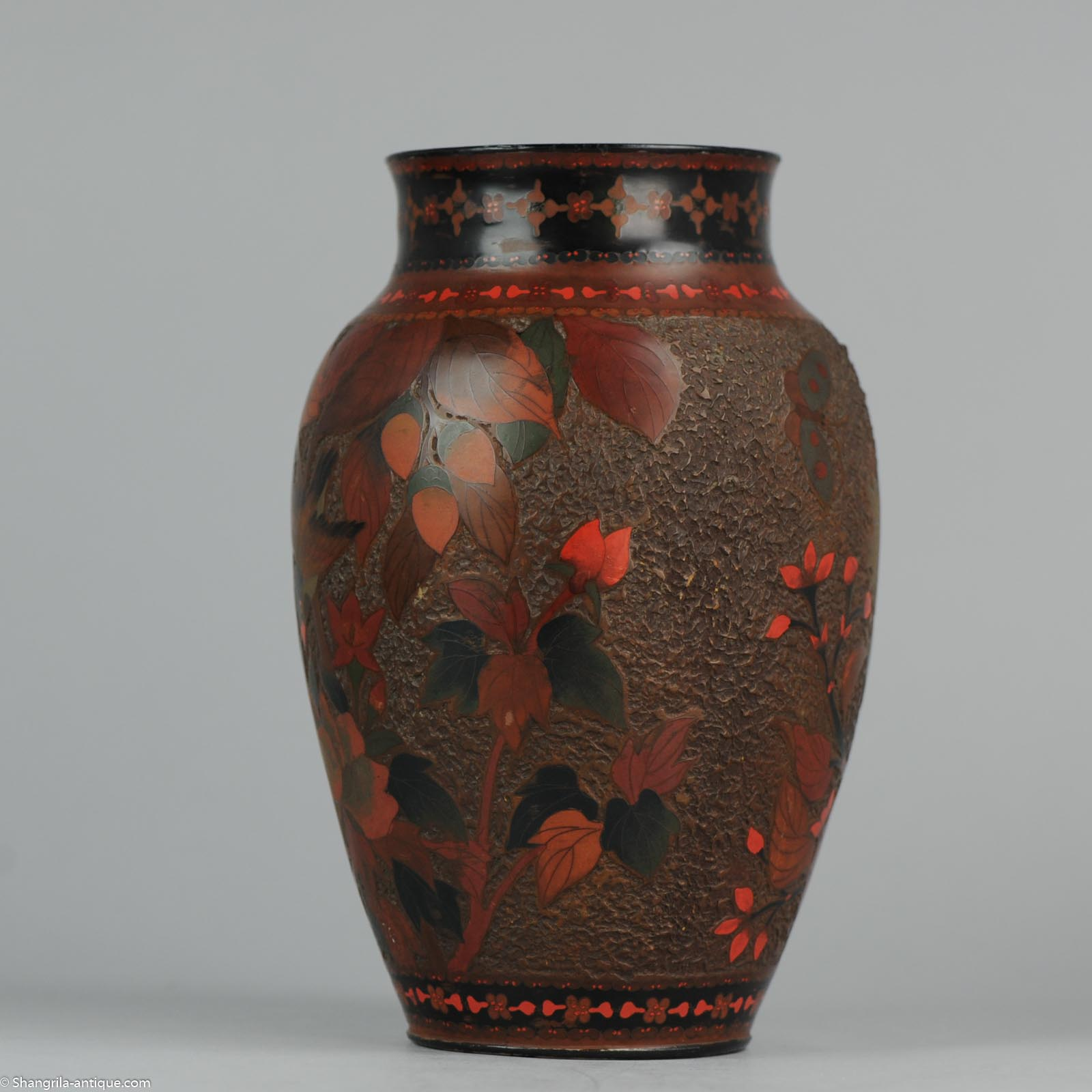 19c Meiji Period Japanese Totai Shippo Cloisonne On