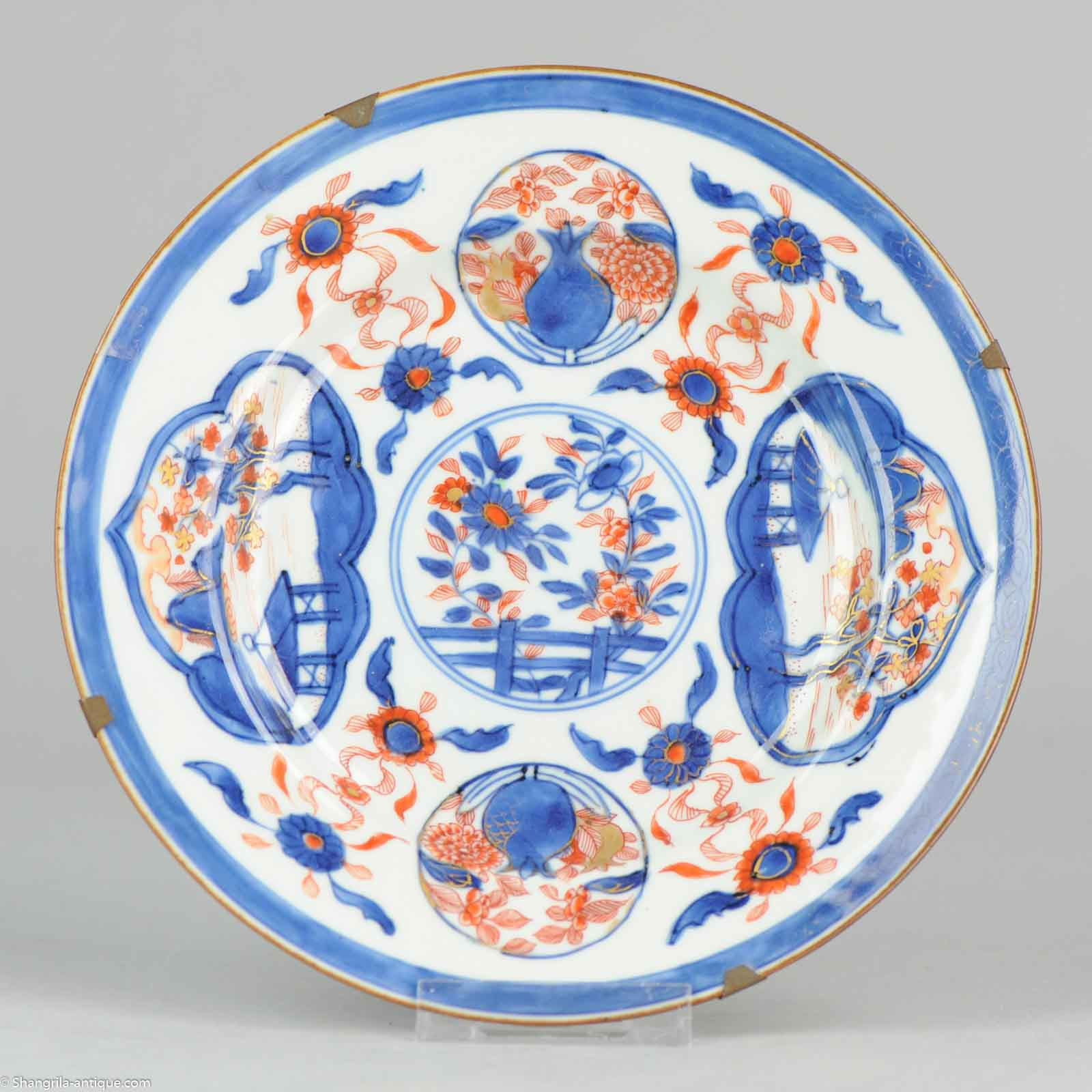 Antique 18th c Imari QIanlong /Yongzheng plate Chinese plate qing china old  sc 1 st  Shangrila Antique & Shangrila Antique