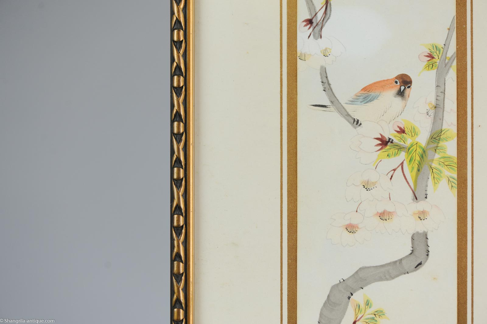 Very fine chinese painting bird and calligraphy china antique