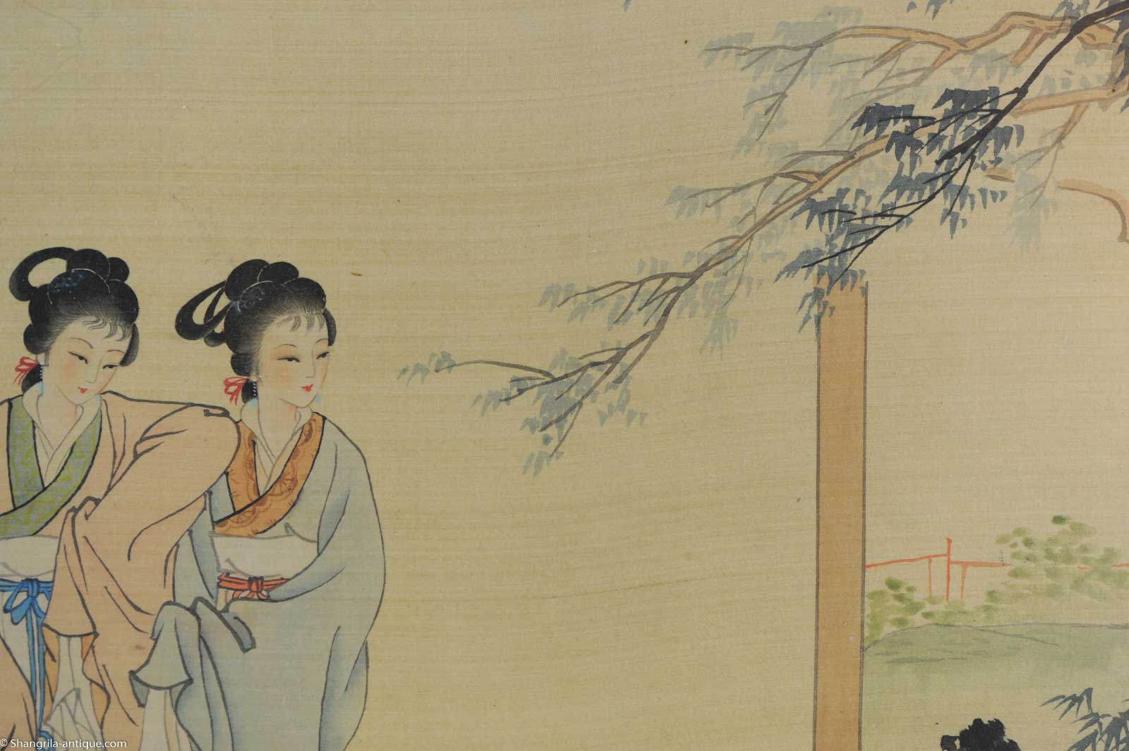 Very fine chinese painting ladies and calligraphy china