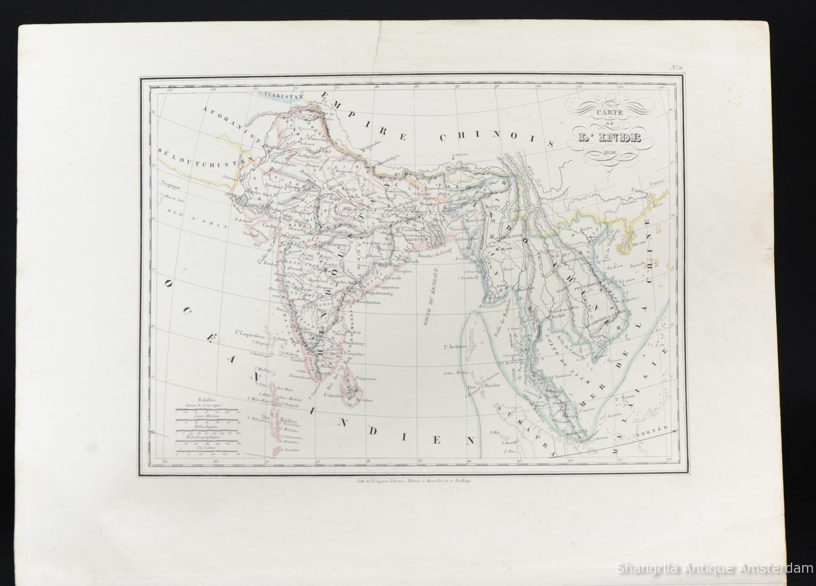Carte De Linde En 1900.Antique 1836 Carte De L Inde Myanmar Malaysia Vietnam Map