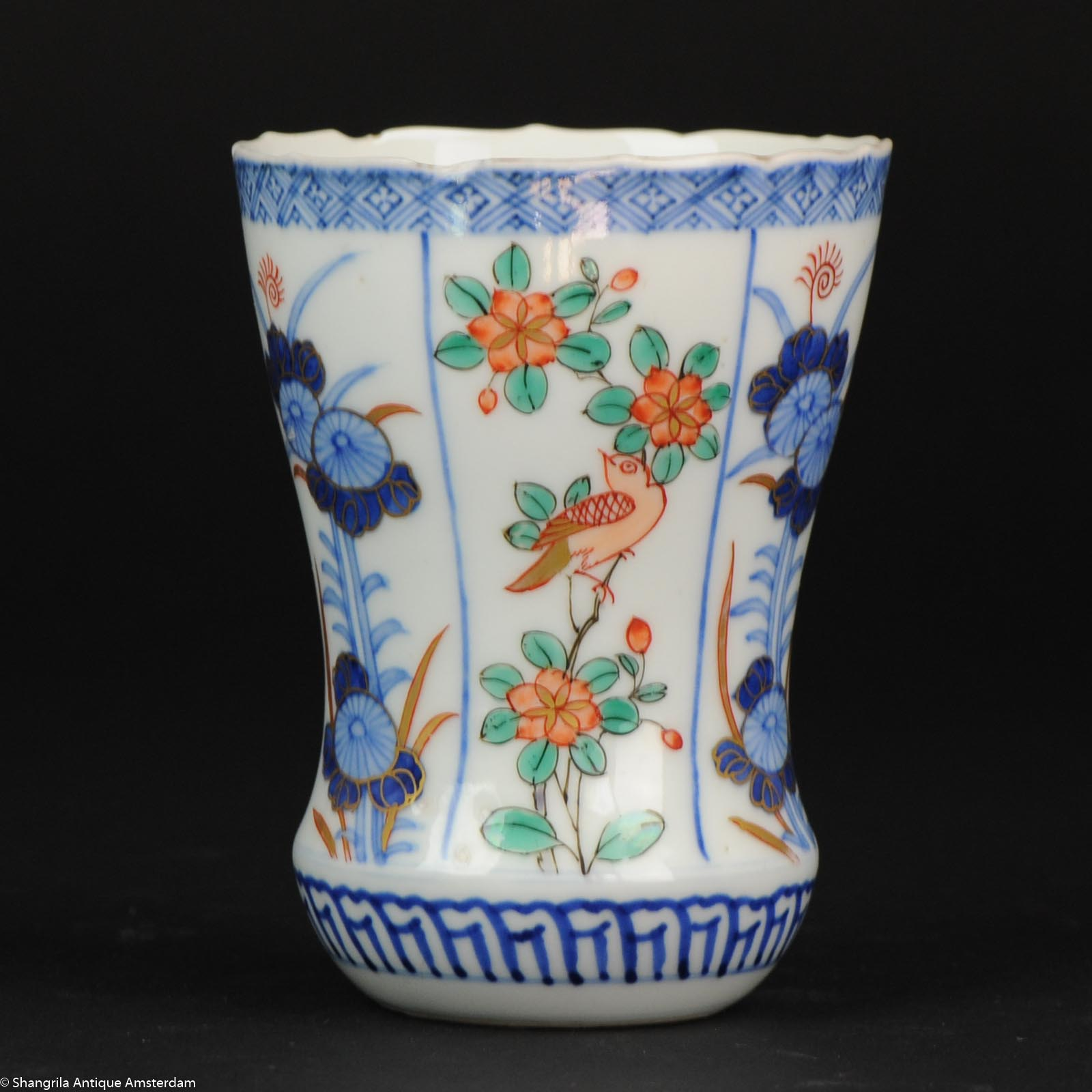 Antique edo meiji period japanese porcelain vase japan flowers antique edo meiji period japanese porcelain vase japan flowers polychome bird gold reviewsmspy