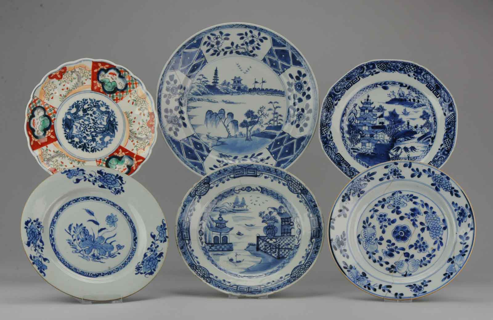 Set Antique Chinese Anese 18c Period