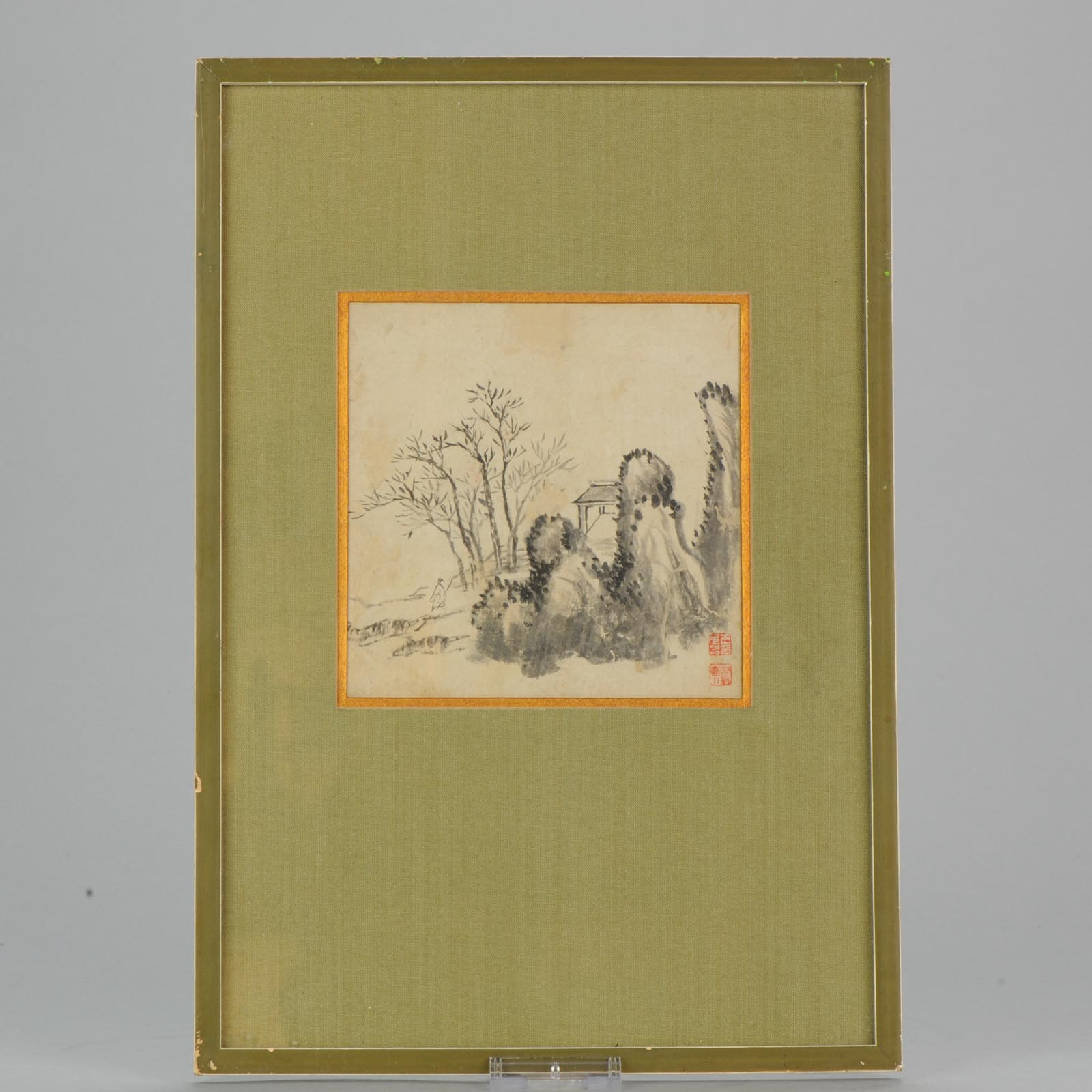 af65c95731aa8 Antique 19th c Chinese painting China Antique Seal Wang Yuanzhao 1821-1898