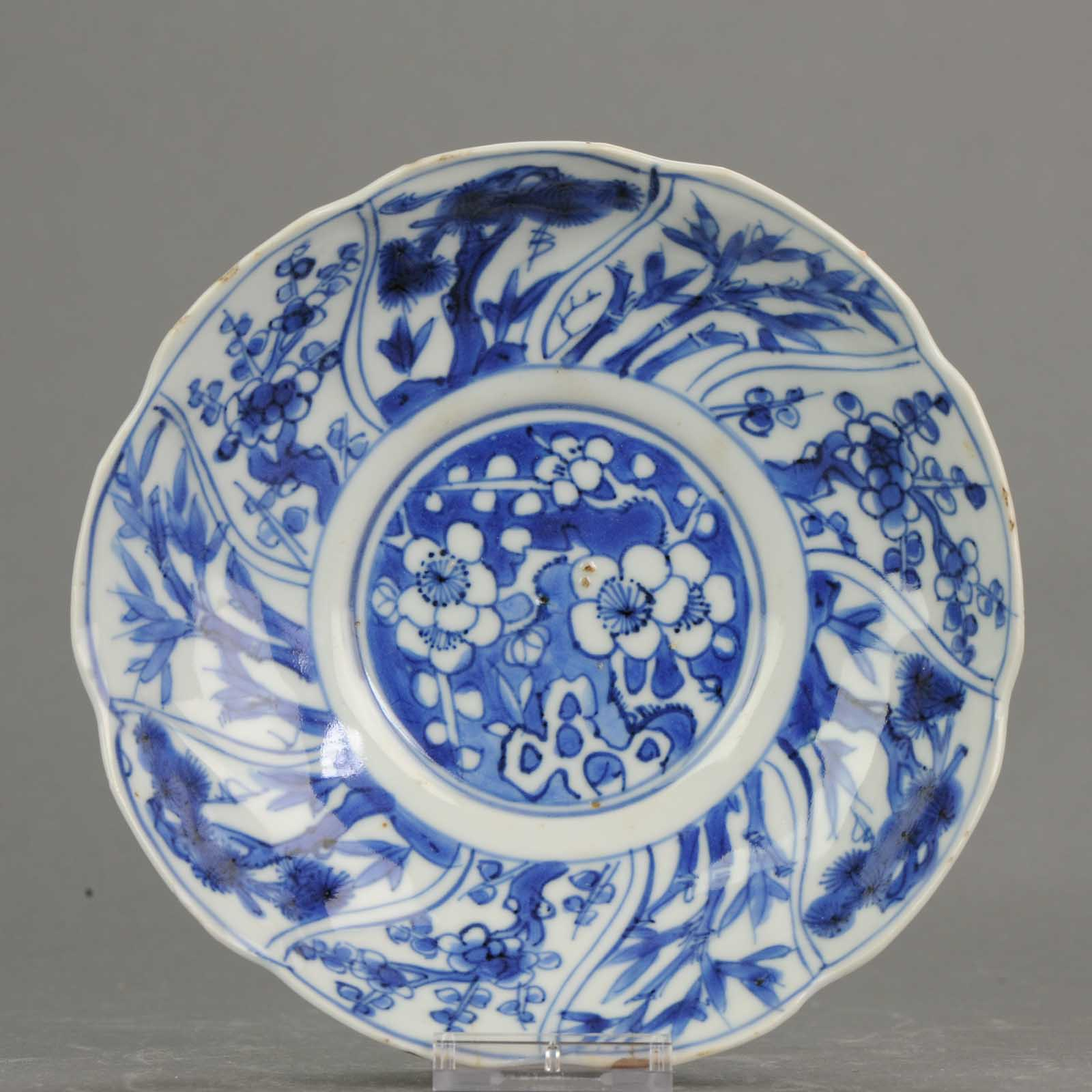 Asian lady image on antique dishes #15